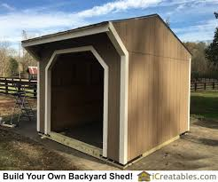 Small Barn Plans Run In Shed Plans Building Your Own Horse Barn Icreatables