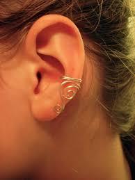 wire ear cuffs single silver plated ear cuff with swirls on luulla