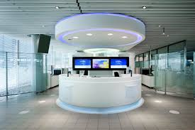 Round Reception Desk by Beautiful Futuristic Interior Design With Circle Set Of The Front