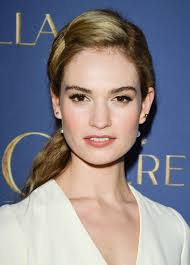 lily james shows us how to gracefully grow out bangs hair