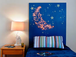 how to make a kid u0027s headboard with built in nightlights how tos