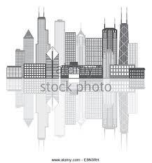 chicago city skyline panorama outline stock photos u0026 chicago city