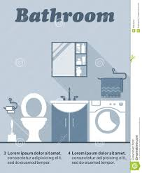bathroom flat interior decor infographic stock vector image