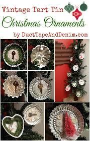 vintage tart tin ornaments