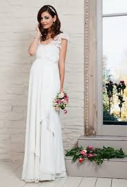 brautkleider schwangerschaft brautkleid für schwangere tailliert volans hochzeitskleider