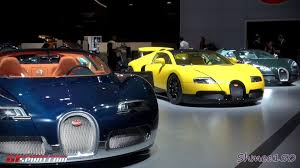 yellow bugatti 3 bugatti veyron grand sports yellow dubai motorshow 2011