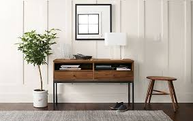 Room And Board Console Table Linear Console Table In Walnut Modern Entryway Furniture Room