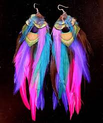 feather earrings s 45 best peacock feather earrings images on feather