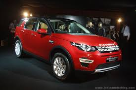 red land rover land rover discovery sport launch front three quarter red in