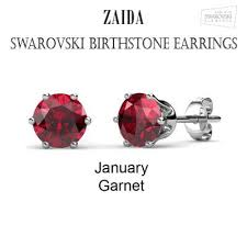 s birthstone earrings swarovski birthstone earrings zaida