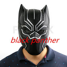 2016 captain america 3 black panther helmet t u0027challa mask cosplay