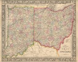 Map Indiana Antique Maps Of Indiana