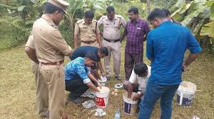bombs recovered from rss controlled temple premises in kannur