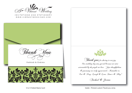 thank you card thank you card responses cheap wedding response