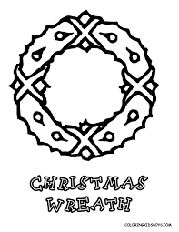 christmas wreath coloring pages getcoloringpages com