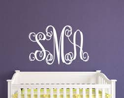 Monogram Wall Decals For Nursery Wall Decal Wedding Signs Tumblers By Lucylews On Etsy