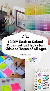 kids organization 13 diy back to organization hacks for kids and teens of all ages jpg