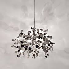 Muriel Chandelier Ak4025 Argent By Dodo Arslan Silver Disk Blossoming Cloud