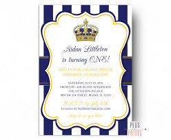 First Birthday Invitation Cards For Boys Royal Prince Birthday Invitation Printable Prince Birthday