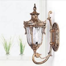 retro classic garden wall lantern path lamp wall mount outdoor