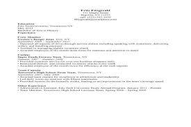 waiter resume objective resume job description waitress niwe