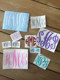 monogram stickers monogram vinyl stickers chickadee s designs
