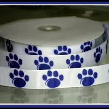 paw print ribbon 7 8 inch custom paw print satin or grosgrain ribbon jlribbongear