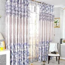Blue And Yellow Curtains Prints Brilliant Fiber And Poly Blue Flower Printed Thermal Curtains