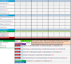 excel spreadsheet workout manager for p90x plus