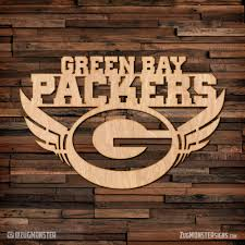 green bay packers wood sign zug monster signs signage metal