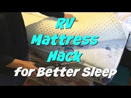 How To Make A Cheap Mattress More Comfortable Rv Mattress Hack Comfortable Bed For Less Money Youtube