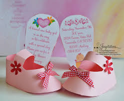 3d Invitation Card 3d Invitations Very Unique Baby Shoe Invites For Baby Shower