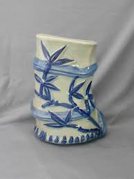 Bamboo Wall Vase Victoria Ware Blue Ironstone Bamboo Wall Pocket In Home Decor