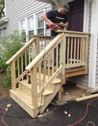 Back Porch Stairs Design Jp Works Westford Ma Stair And Landing Remodeling And