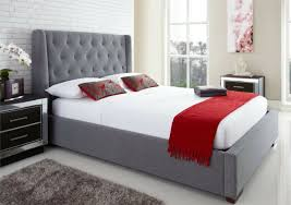 Richmond Bed Frame Enchanting Upholstered Ottoman Bed Richmond Upholstered Winged
