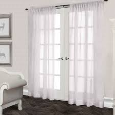 belgian linen curtain panel snowflake 96 in at home at home