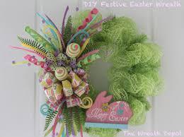 easter wreath diy mesh easter wreath festive easter wreath the wreath depot