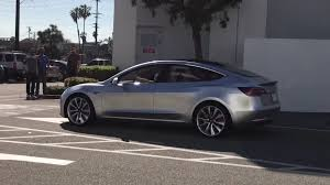 video tesla model 3 prototype caught on the street 5 images