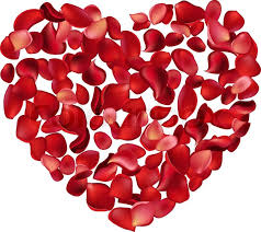 Rose Petals Big Heart Made Of Red Rose Petals Stock Vector Colourbox