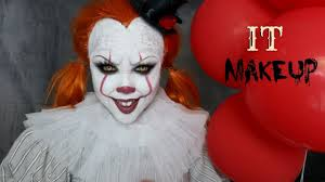 party city halloween makeup it u0027pennywise u0027 halloween makeup tutorial youtube