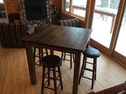 bar top table and chairs 42 rustic reclaimed wood bar table bar height table high top