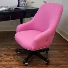 marcelle pink linen office chair