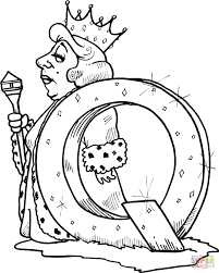 letter q is for queen coloring page free printable coloring pages