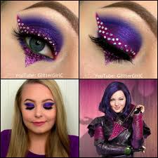 Purple Halloween Eye Makeup by Descendants Mal Makeup Glittergirlc Decendants Pinterest