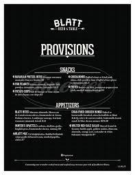 blatt beer and table menu blatt beer table menu omaha dineries