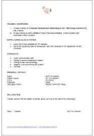 Declaration In Resume Sample Declaration Resume Declaration In Resume Sample Best Resume Format