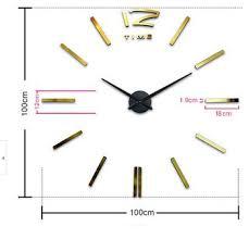Large Mirrored Wall Clock Large Decorative Wall Clocks Diy Sticker Wall Clock Diy Pendulum