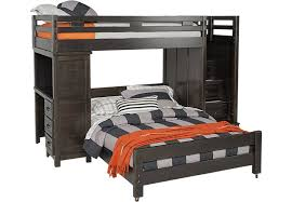 Find Bunk Beds Creekside Charcoal Step Bunk With Desk Beds Colors