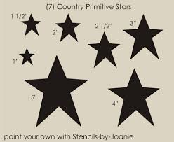 stencil country primitive star shapes u paint sign blocks floor