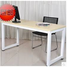country style wrought iron vintage wood computer desk creative